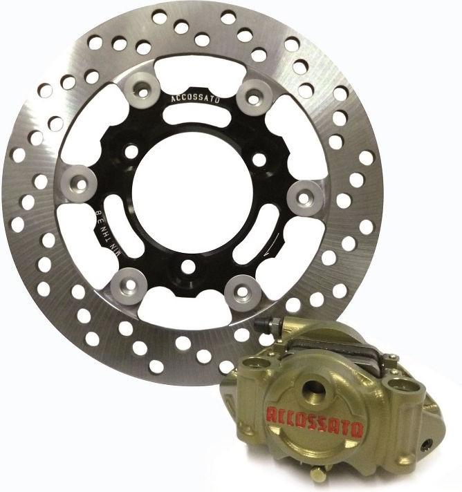 Accossato Kit Accossato rear brake caliper and rotor for Moto2