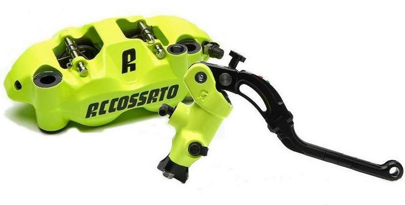 Accossato Kit radial brake master cylinder CY042N + monoblock forged brake caliper PZ004N