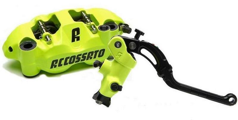 Accossato Kit radial brake master cylinder CY043Y + monoblock forged brake caliper PZ004Y