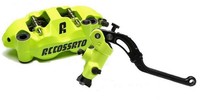 Accossato Kit radial brake master cylinder CY044N + monoblock forged brake caliper PZ004N