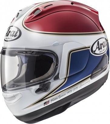 Arai RX-7 V Helmet, Spencer 40th Red | 135-716