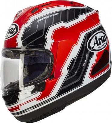 Arai RX-7 V Helmet, Mamola Edge Red | 135-916