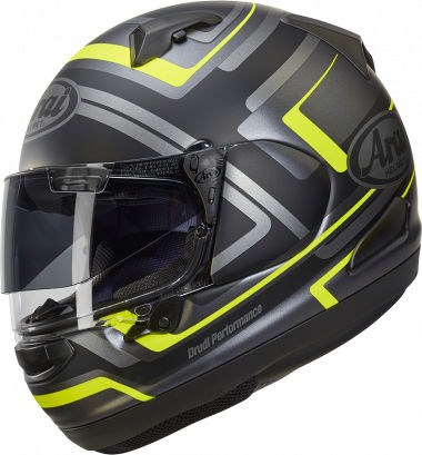 Arai QV Helmet, Charged Yellow (matt) | 164-925