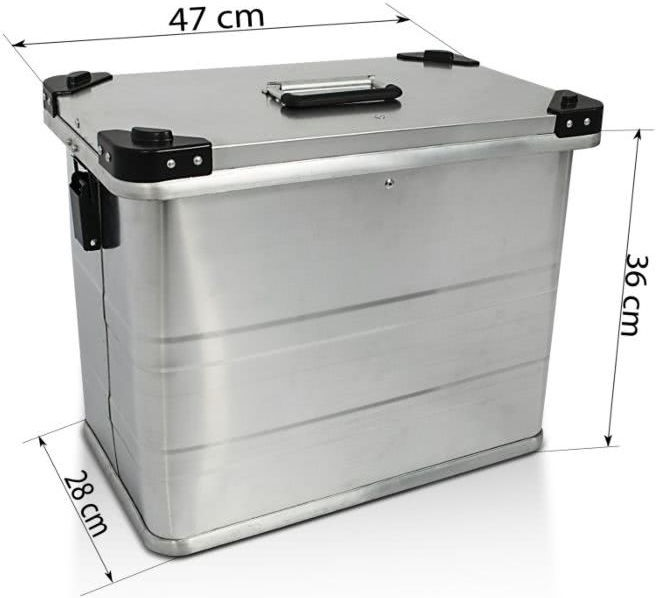 Bagtecs / バッグテック Aluminium Side cases Bagtecs / バッグテック 2 x 45l + Mounting kit for 16mm luggage carriers   980279-0