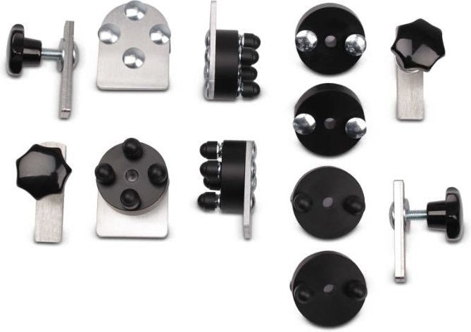 Bagtecs / バッグテック Pannier mounting kit for aluminium cases 18mm diameter pair | 979600-0
