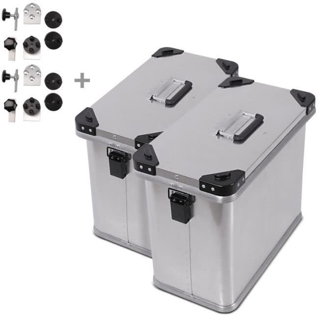 Bagtecs / バッグテック Aluminium Side cases Bagtecs / バッグテック 2 x 34l + Mounting kit for 18mm luggage carriers | 984282-0