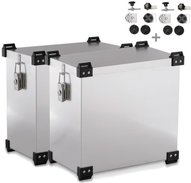 Bagtecs / バッグテック Aluminium Side cases 2x 36 l Bagtecs / バッグテック X4 + Mounting kit for 18mm luggage carriers | 995882-0