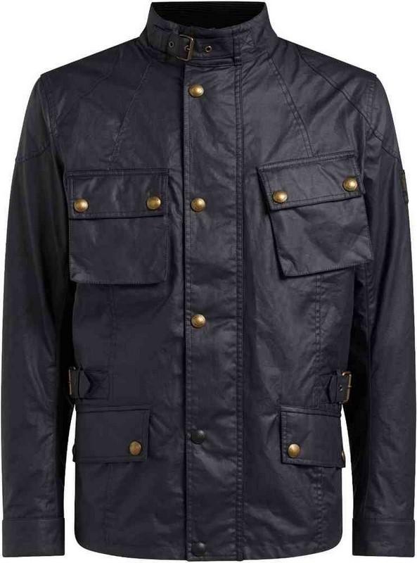 Belstaff (ベルスタッフ) ライディングジャケット CROSBY ジャケット ワックスコットン ブラック   41030009-C50N0587-90000