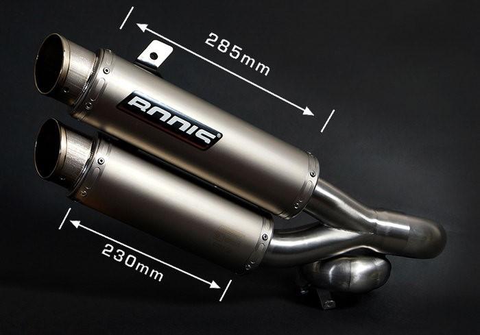 Bodis(ボディス)GPX2-S スリップオン-セット 4-4 ステンレス/フルチタン   KZ1000-008