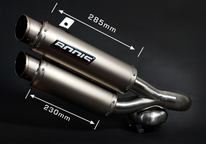 Bodis(ボディス)GPX2-S スリップオン-セット 4-4 ステンレス/フルチタン   KZ1000-007