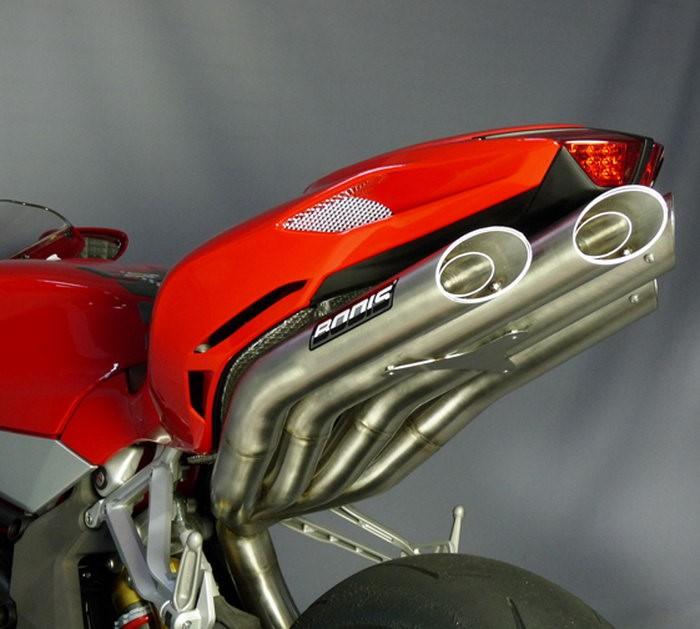 Bodis(ボディス)スリップオンマフラー フルチタン Quattro FSR Racing for F4 (10)   MF4-013