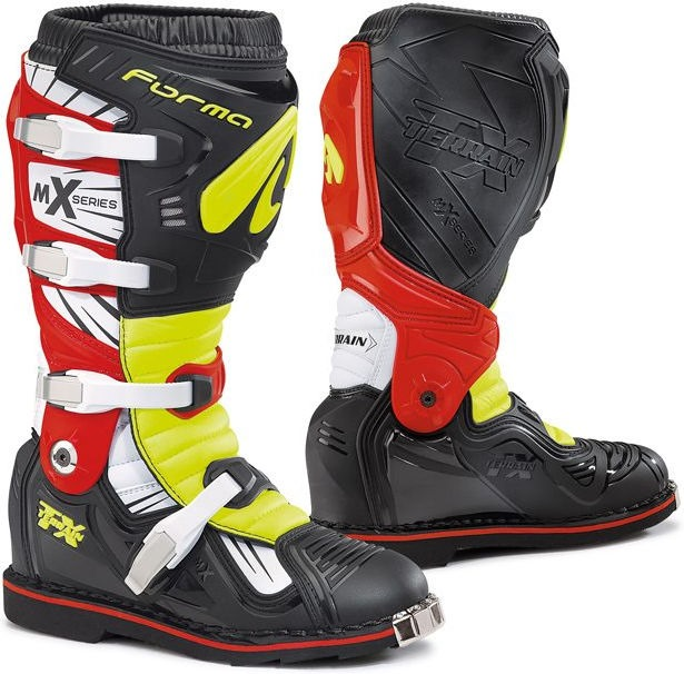 Forma Terrain TX Standard Off-Road Fit, Black/Yellow Fluo/Red |FORC350-997810