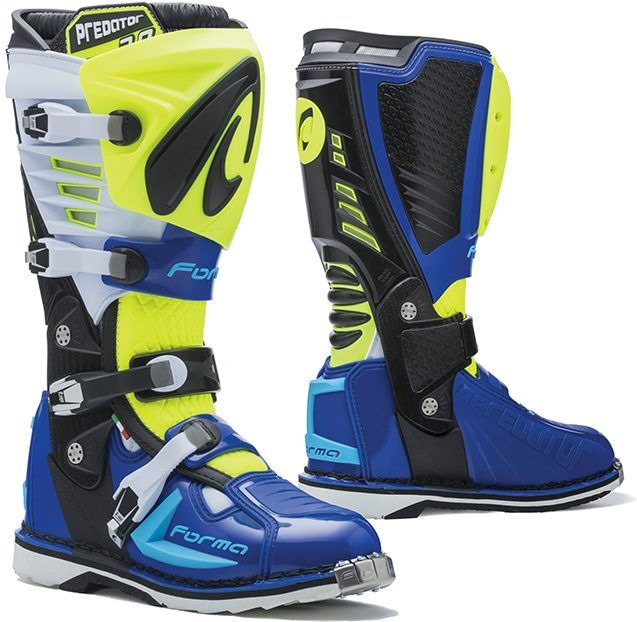 Forma Predator MX Boots Standard Off-Road, Yellow Fluo/White/Blue |FORC520-789811