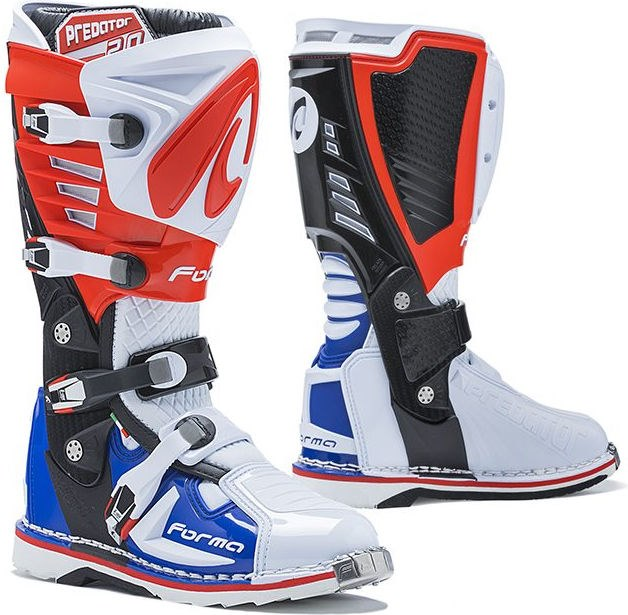 Forma Predator MX Boots Standard Off-Road, White/Red/Blue |FORC520-981011
