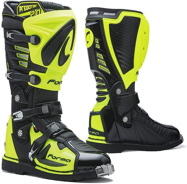 Forma Predator MX Boots Standard Off-Road, Black/Yellow Fluo |FORC520-9978