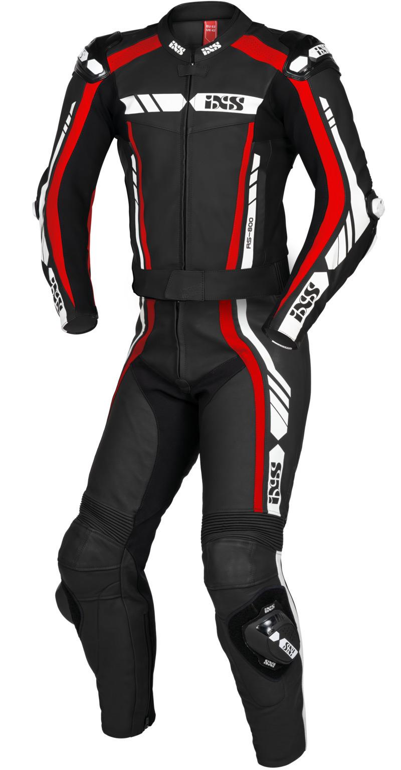 IXS / イクス スーツ Sport LD RS-800 1.0 2-ピース ブラック-レッド-ホワイト X70020-321