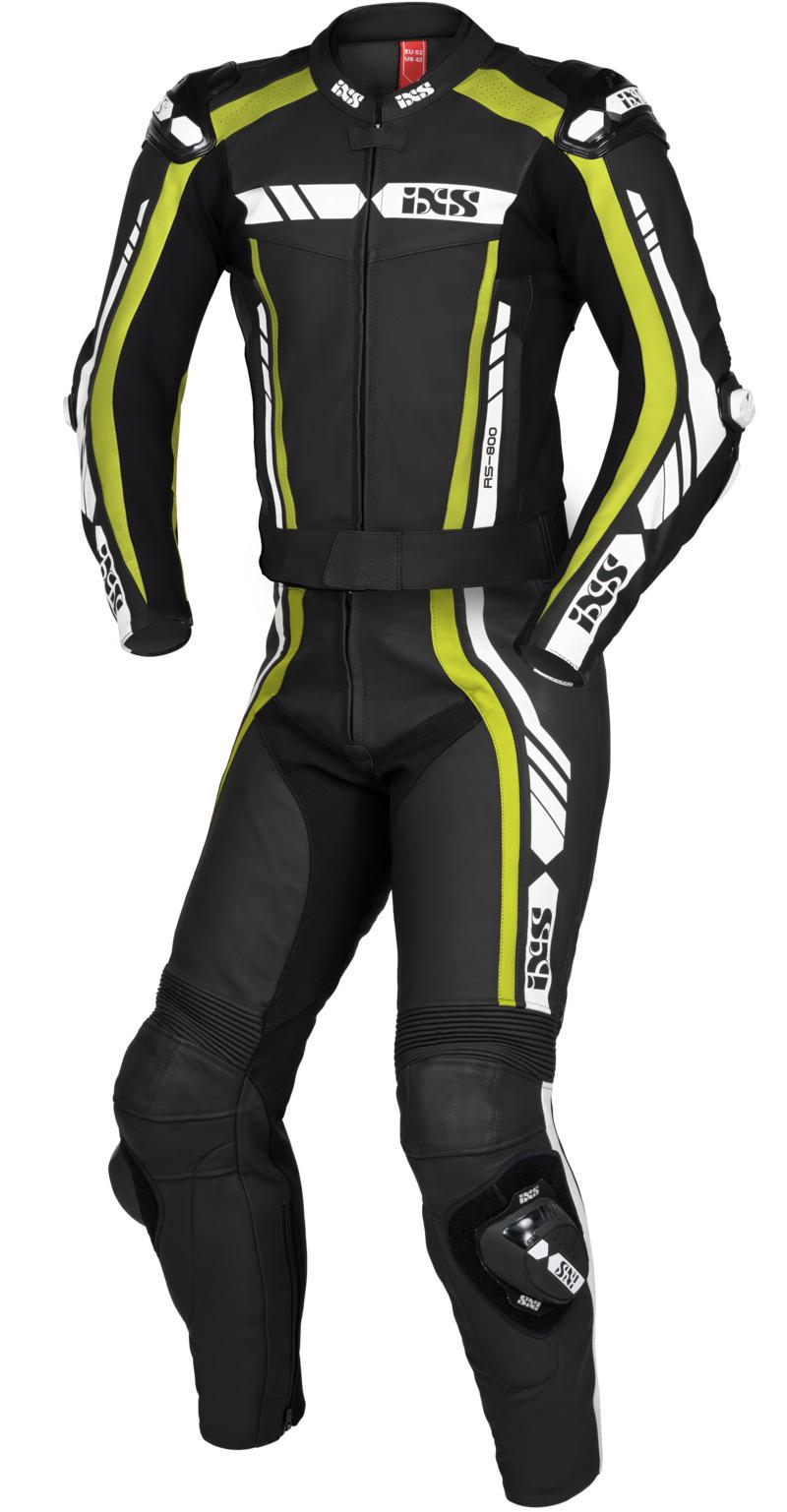 IXS / イクス スーツ Sport LD RS-800 1.0 2-ピース ブラック-イエロー-ホワイト X70020-351