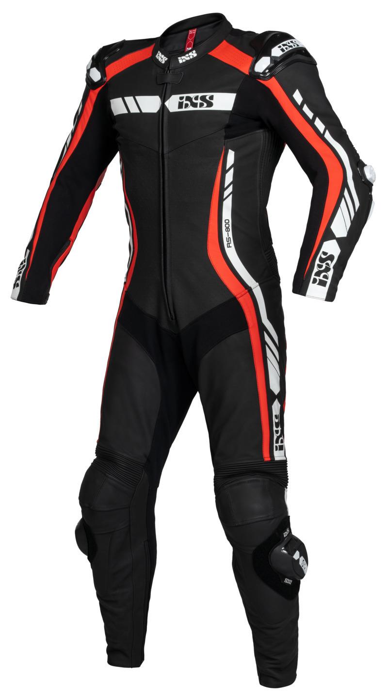 IXS / イクス スーツ Sport LD RS-800 1.0 1-ピース ブラック-レッド-ホワイト X70617-321