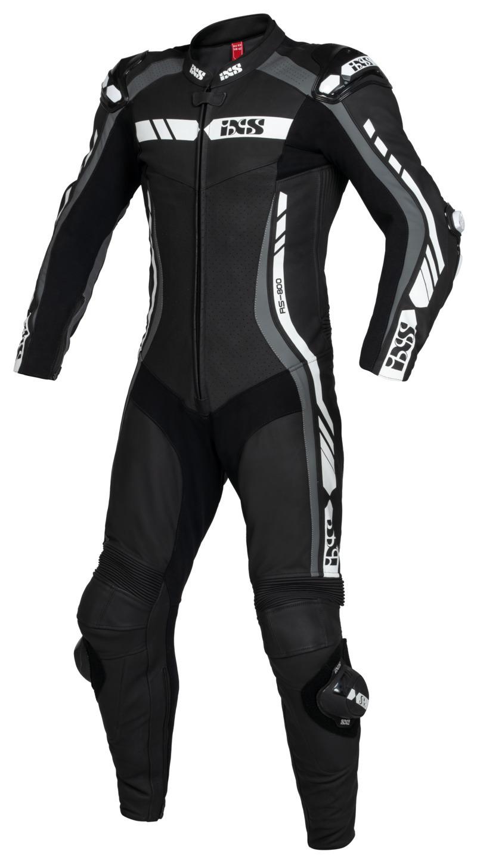 IXS / イクス スーツ Sport LD RS-800 2.0 1-ピース ブラック-グレー-ホワイト X70618-391