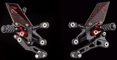 "Lightech ""R"" VERSION ADJ. REAR SETS , REVERSE SHIFTING - BMW S1000RR (09-14) + S 1000 R (14-16)   FTRBM002R"