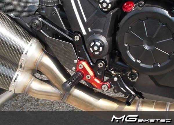 Mg-biketec Sport Rearset Ducati Diavel Black 2011 | 2500-158511