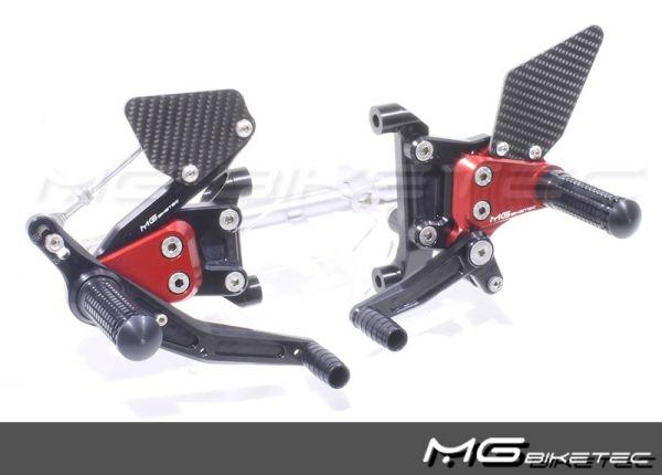 Mg-biketec Sport Rearset Ducati 899 Panigale Red 2014   2530-156512