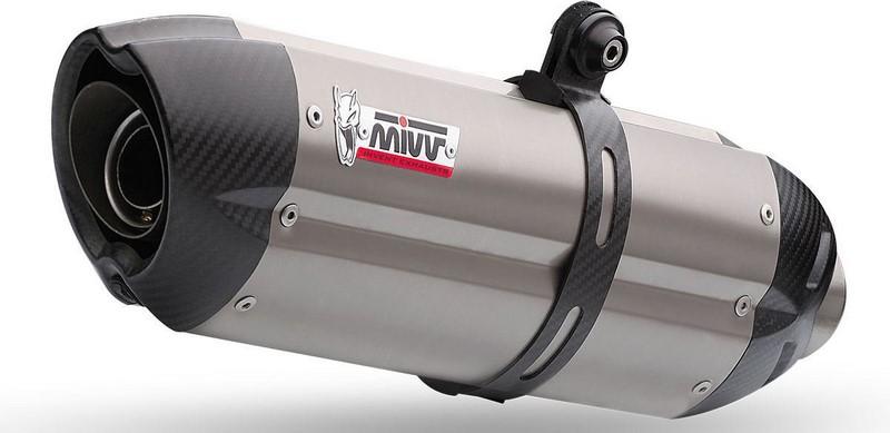 MIVV / ミヴ -SPORT SUONO- スリップオン チタン製(カーボンエンドキャップ付) 2本出し