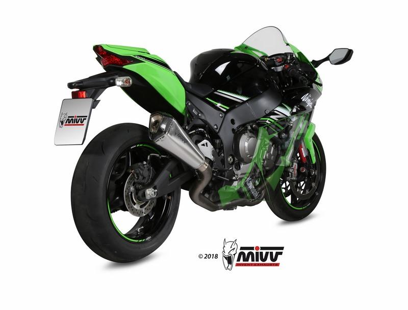 MIVV / ミヴマフラー POWER STEEL Full sys. 4x2x1 Muffler DELTA RACE STAINLESS STEEL carbon cap For KAWASAKI Z