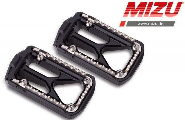 Mizu オフロードフットペグ シルバー/ブラック   409TS3330025