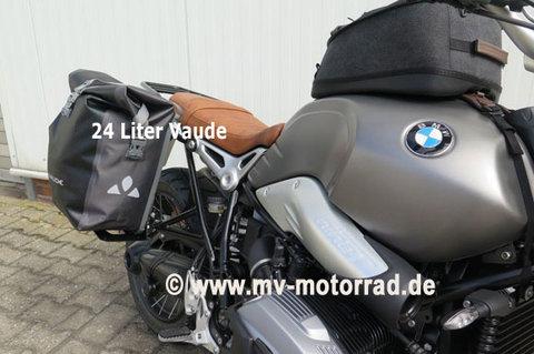 MV Motorrad / エムブイ モトラッド Luggage Rack for Passengers Footrest for BMW Solo Drivers with VAUDE bag 24 liters - Aluminum in new Design - 905316alu-bmw-VAP-VAUDE-Tasche-24-Liter
