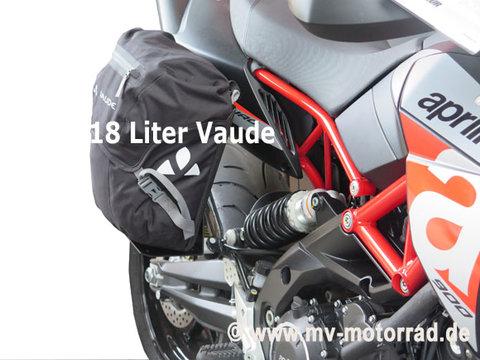 MV Motorrad / エムブイ モトラッド Luggage Rack for Passengers Footrest for BMW Solo Drivers with VAUDE bag II 18 Liters - Aluminum in new Design - 905316alu-bmw-VAUDE-Tasche-II-18-Liter