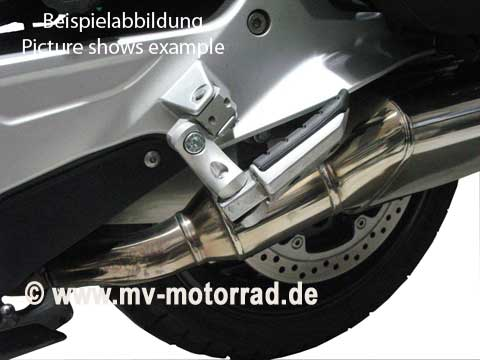 MV Motorrad / エムブイ モトラッド Lowered / Adjustable Passenger Footrest for BMW K1300R - 908626-k1300r