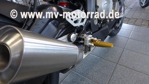 MV Motorrad / エムブイ モトラッド Vario adjustable Flexible Riders Footrest lower BMW K1200+ K1300R/S - 908649K1200-K1300SundR