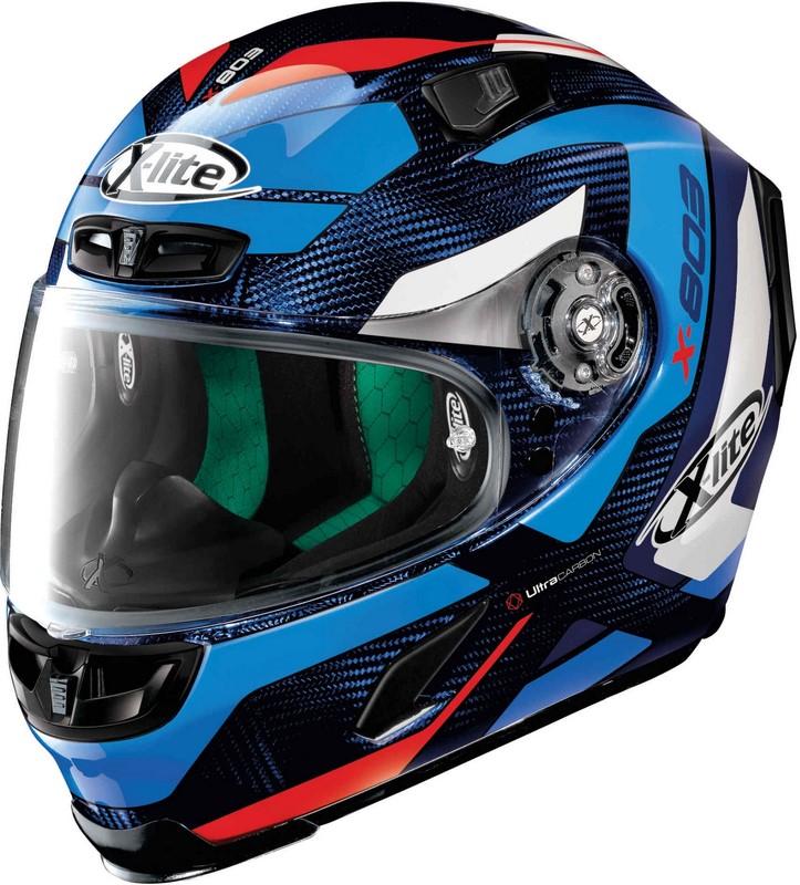 X-Lite / エックスライト X-803 Mastery Ultra Carbon ヘルメット フルフェイス ブルー/ホワイト/レッド