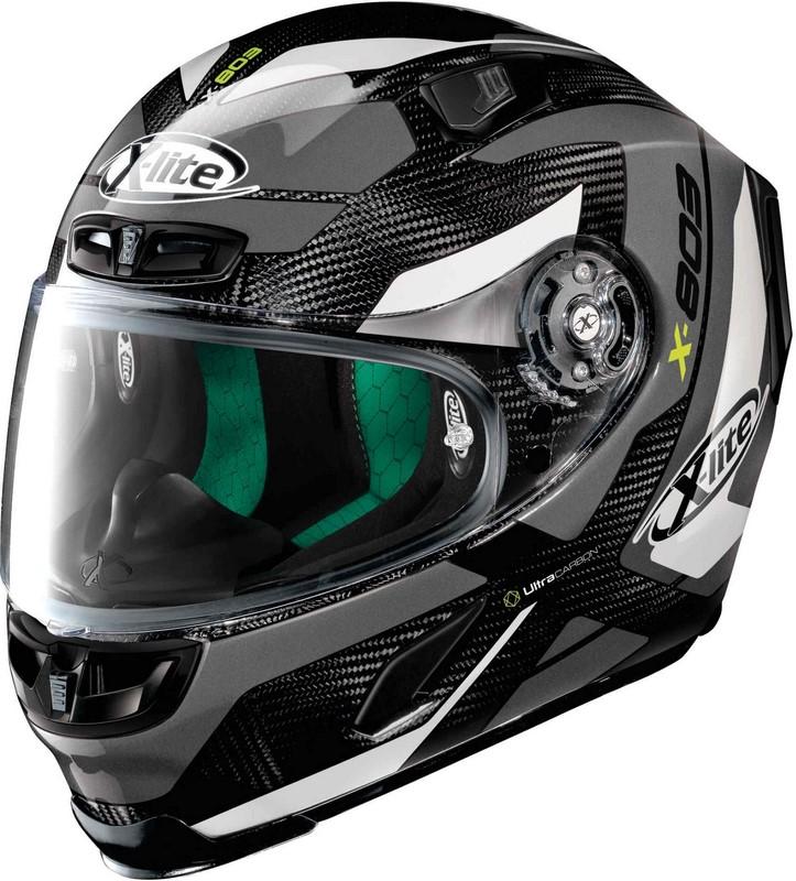 X-Lite / エックスライト X-803 Mastery Ultra Carbon ヘルメット フルフェイス グレー-ブラック