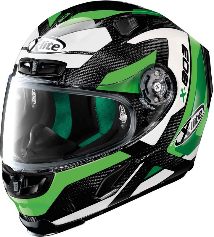 X-Lite / エックスライト X-803 Mastery Ultra Carbon ヘルメット フルフェイス ブラック-グリーン