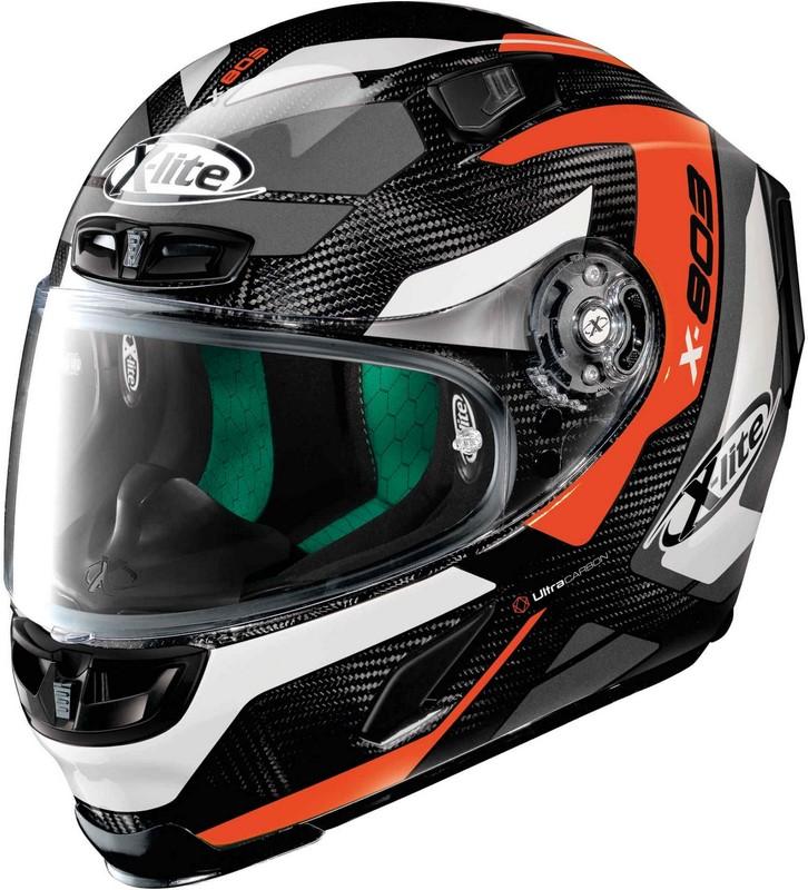 X-Lite / エックスライト X-803 Mastery Ultra Carbon ヘルメット フルフェイス ブラック-オレンジ