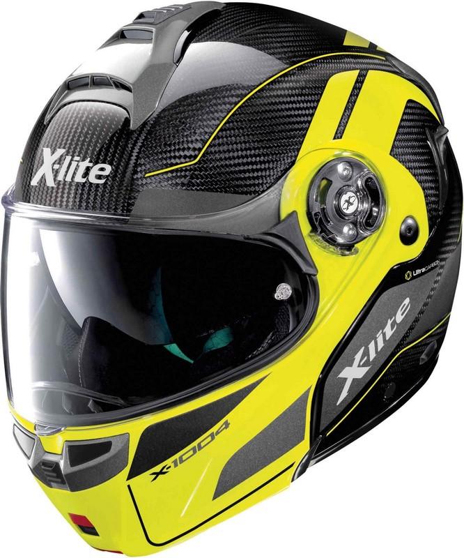 X-Lite / エックスライト X-1004 Ultra Carbon Charismatic ヘルメット フリップアップ イエロー/ブラック