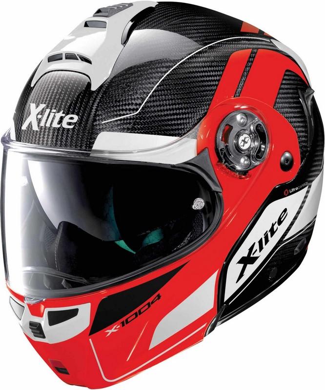 X-Lite / エックスライト X-1004 Ultra Carbon Charismatic ヘルメット フリップアップ レッド/ブラック