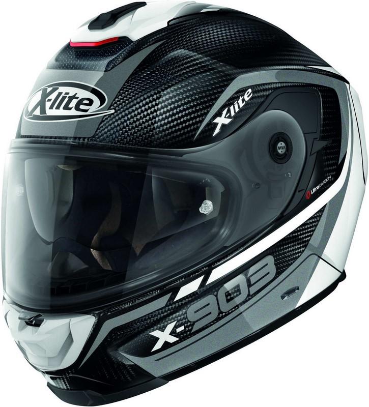 X-Lite / エックスライト X-903 Ultra Carbon Cavalcade N-Com ヘルメット フルフェイス ブラック-ホワイト