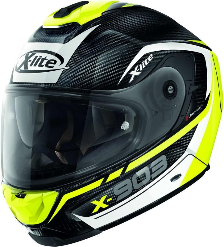 X-Lite / エックスライト X-903 Ultra Carbon Cavalcade N-Com ヘルメット フルフェイス ホワイト/イエロー/ブラック