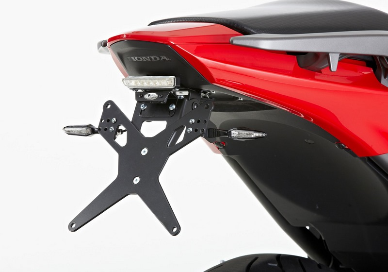 PROTECH / プロテック license plate holder with LED-taillight ,black   6532216