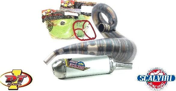 Scalvini / スカルビーニ エキゾースト + DT1 フィルターキット KTM/HQ 250/300 (12/16)   010.016121