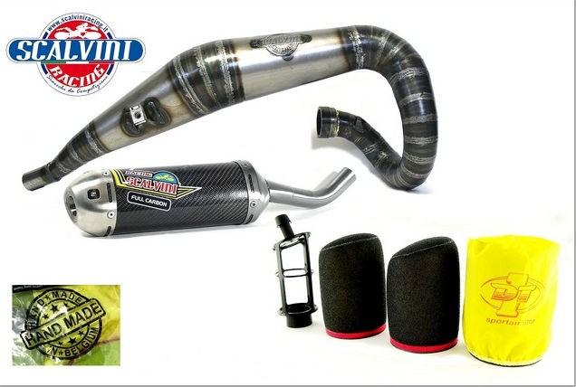Scalvini / スカルビーニ エキゾースト + エアパワー DT1 フィルターキット KTM 250 FREERIDE   010.017011