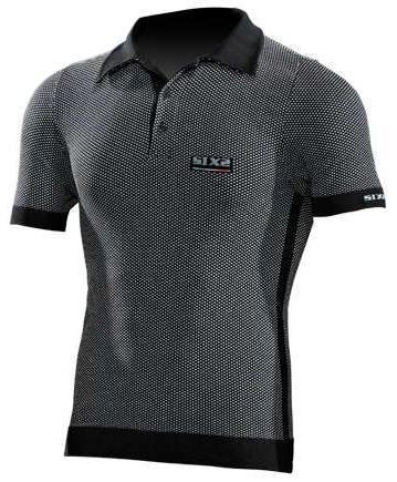 SIXS - シックス Short-Sleeved Polo Shirt - ブラック