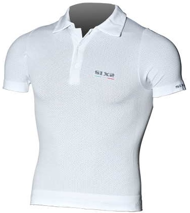 SIXS - シックス Short-Sleeved Polo Shirt - カーボンホワイト