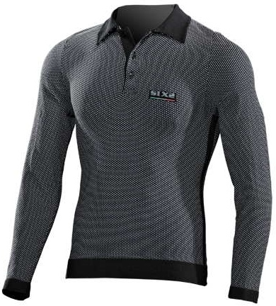 SIXS - シックス Long-Sleeved Polo Shirt - ブラック