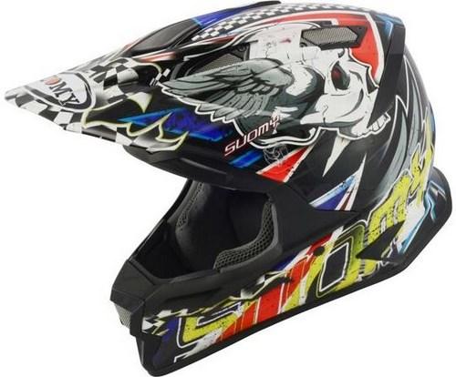 SUOMY Offroad Helmet ALPHA, Color: SKULL RED | ALPHA