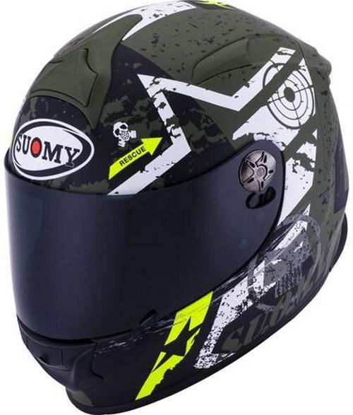 SUOMY Full Face Helmet SR-SPORT, Color: STARS MILITARY | SR-SPORT