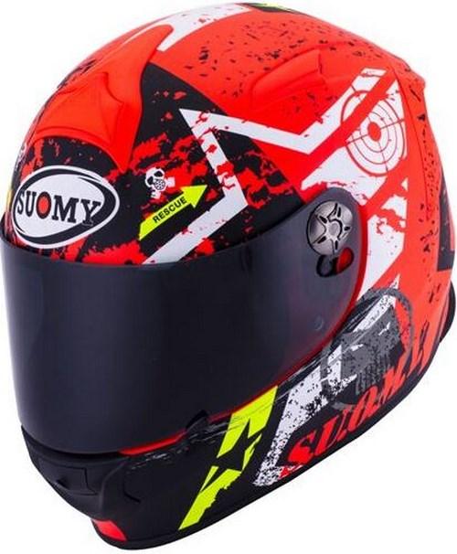 SUOMY Full Face Helmet SR-SPORT, Color: STARS ORANGE | SR-SPORT